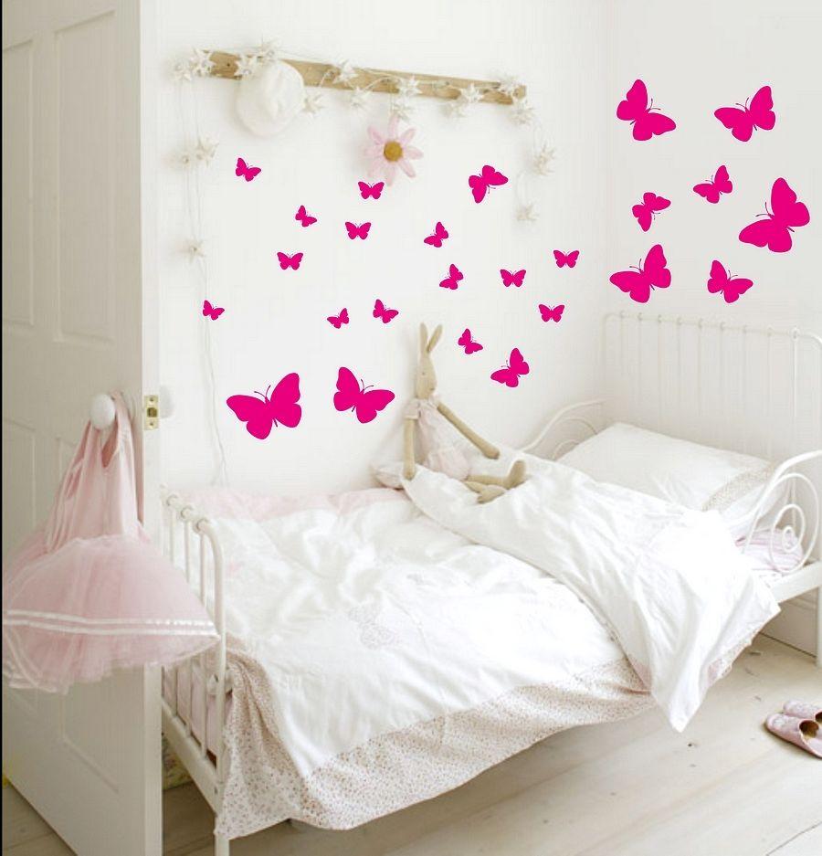 Motyle I Motylki Naklejka ścienna Zestaw 26 Sztuk
